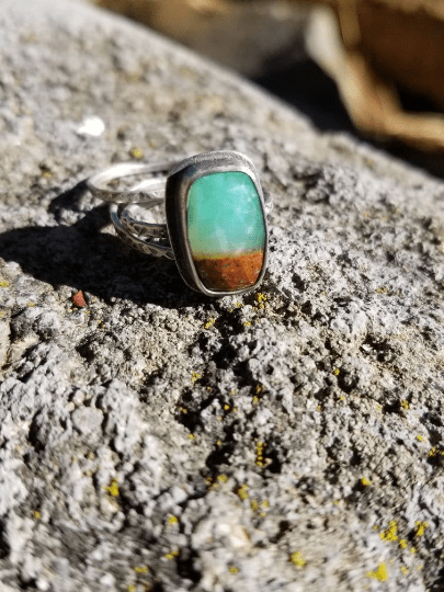 Chrysoprase Stackable Ring Set
