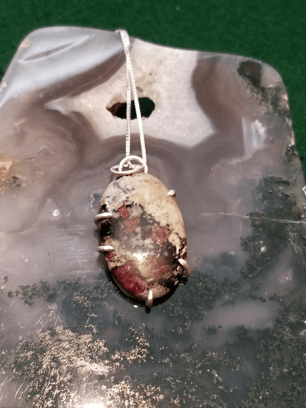 Eudialyte Prong Pendant