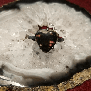 Ocean Jasper Heart Ring
