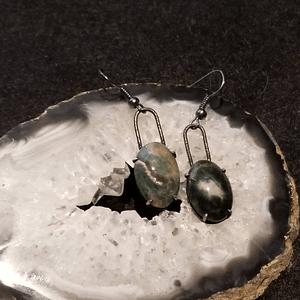 Sterling Silver Ocean Jasper Dangle Earrings