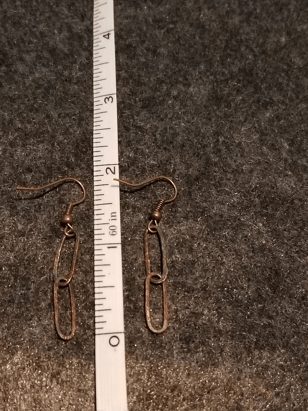 Fine Silver Double Link Earrings